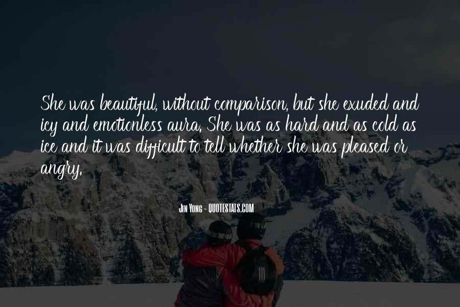 Cold And Beautiful Quotes #112609