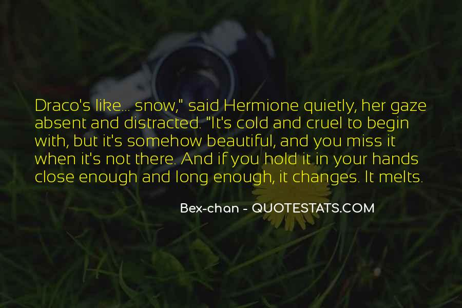 Cold And Beautiful Quotes #128654