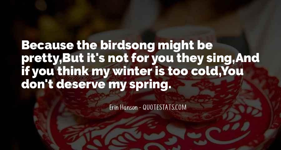 Cold And Beautiful Quotes #222127