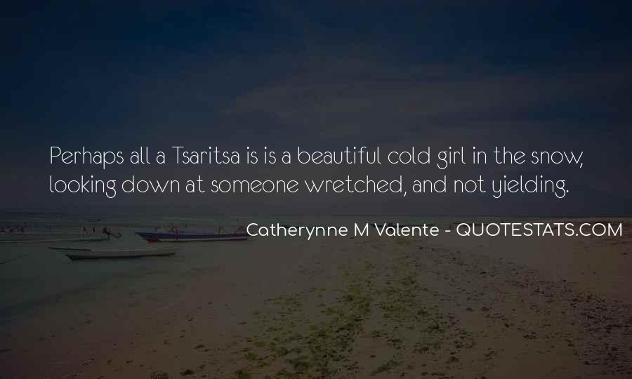 Cold And Beautiful Quotes #238843