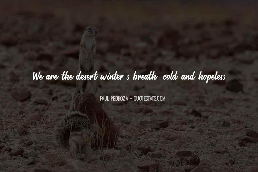 Cold And Beautiful Quotes #997125