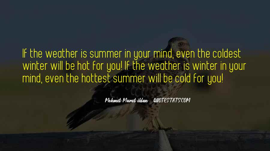 Cold And Hot Weather Quotes #12229