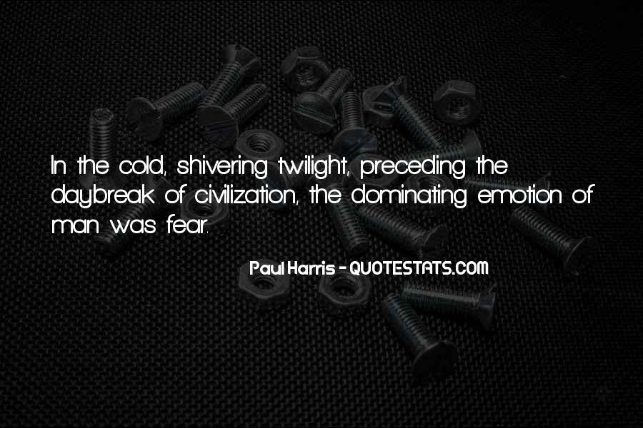 Cold Shivering Quotes #1640409