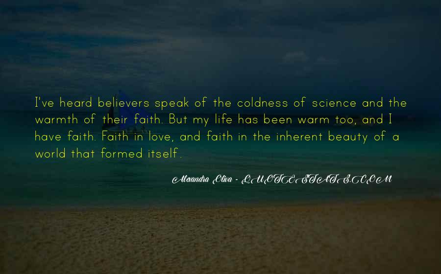 Coldness Of Life Quotes #1628155