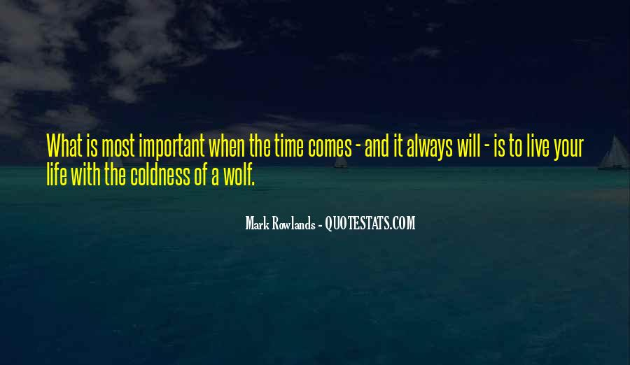 Coldness Of Life Quotes #796587