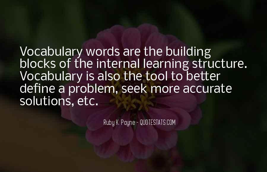 Quotes About Learning Vocabulary #123066