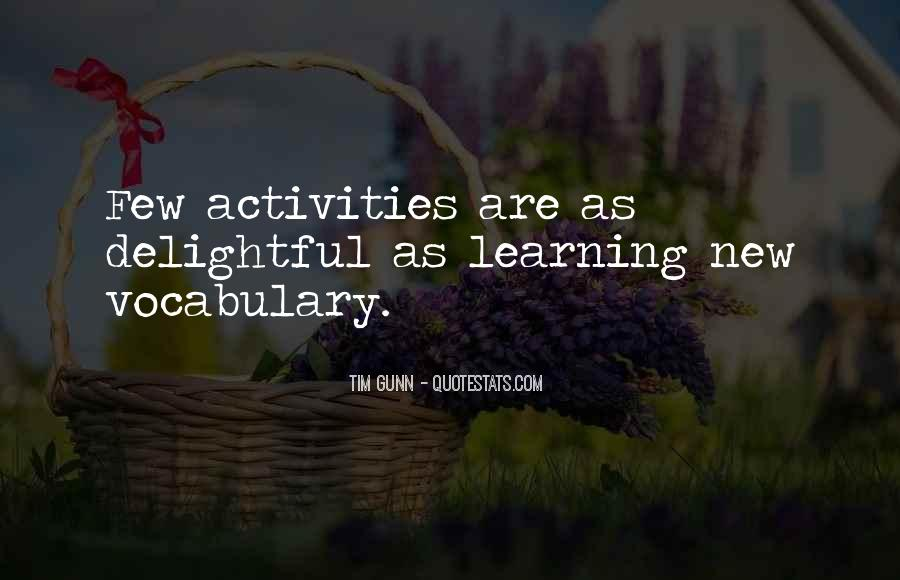 Quotes About Learning Vocabulary #1407328