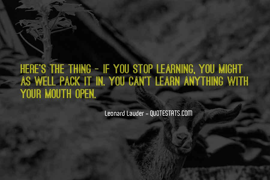 Quotes About Learning To Open Up #190445