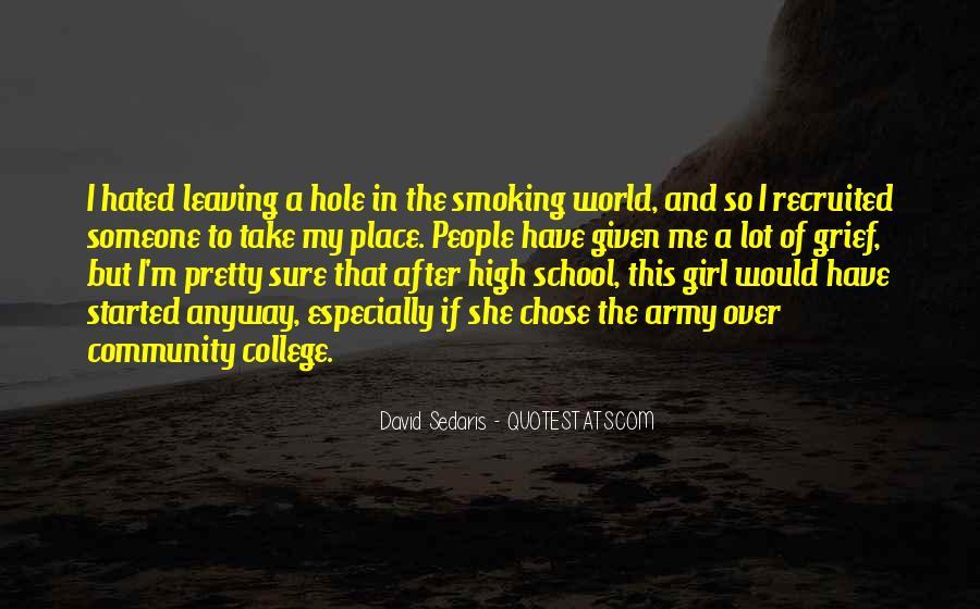 College Leaving Sad Quotes #1390113