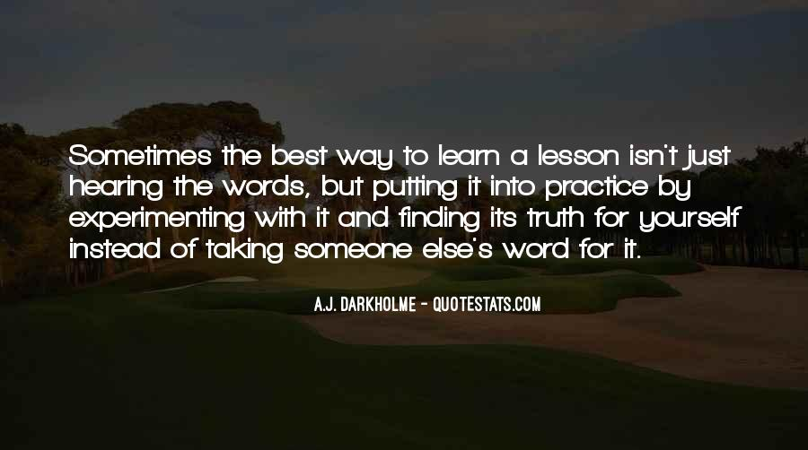 Quotes About Learning By Yourself #1050846