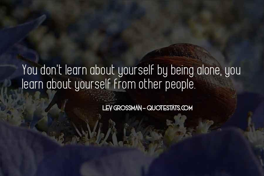 Quotes About Learning By Yourself #1085096