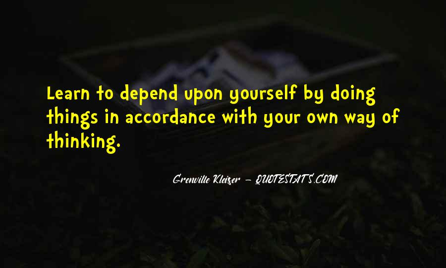Quotes About Learning By Yourself #28059