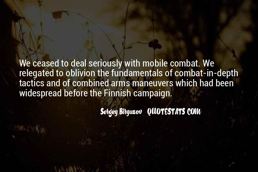 Combined Arms Quotes #777121
