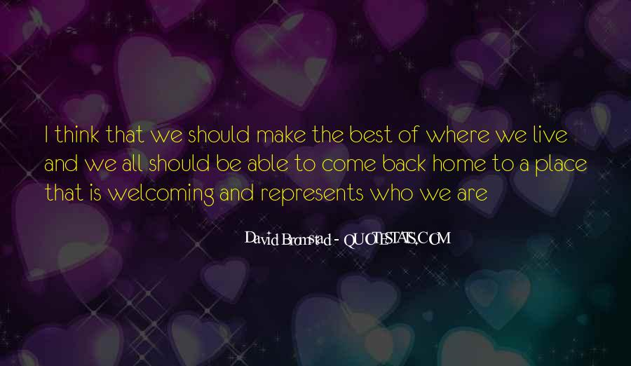 Come Back To Home Quotes #98144