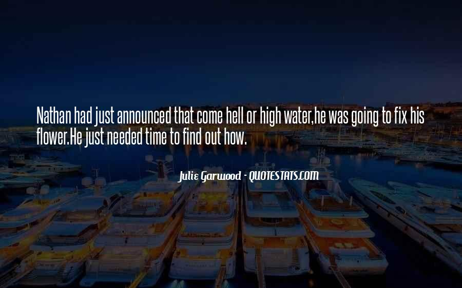 Come Hell Or High Water Quotes #836760