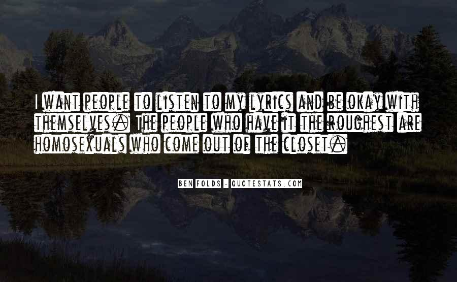 Come Out The Closet Quotes #1870945