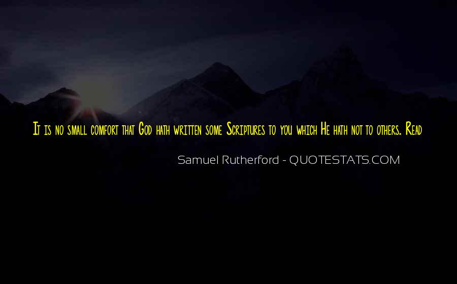 Comfort In God Quotes #992137