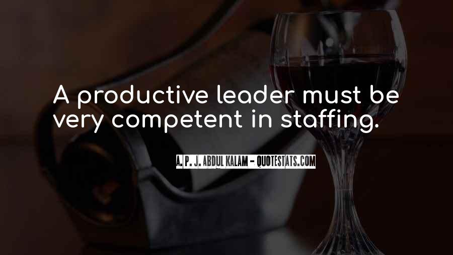 Competent Leader Quotes #1719293