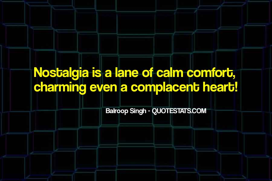 Complacent Quotes #173253