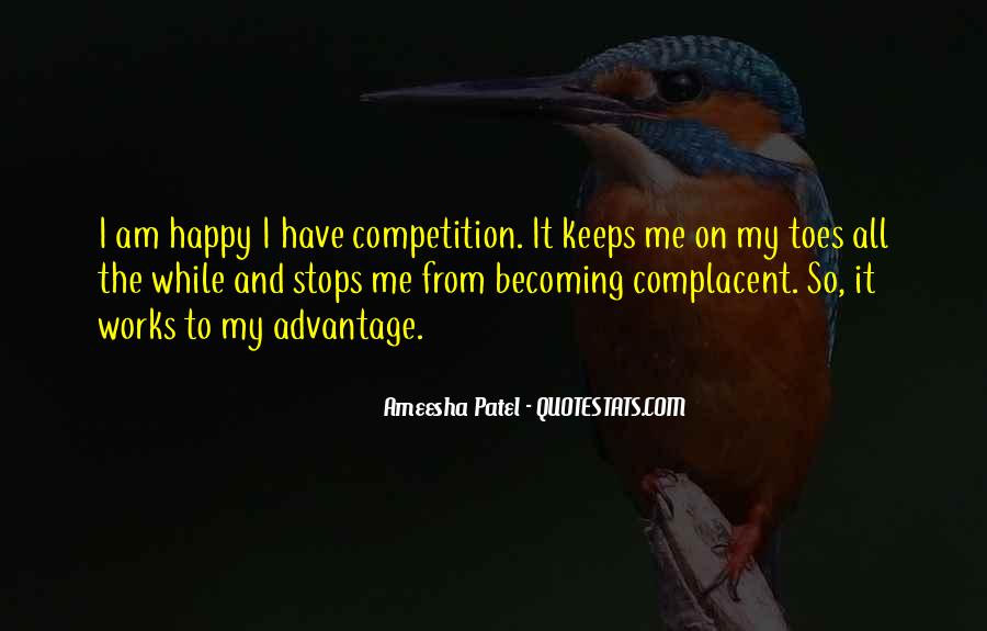 Complacent Quotes #70683