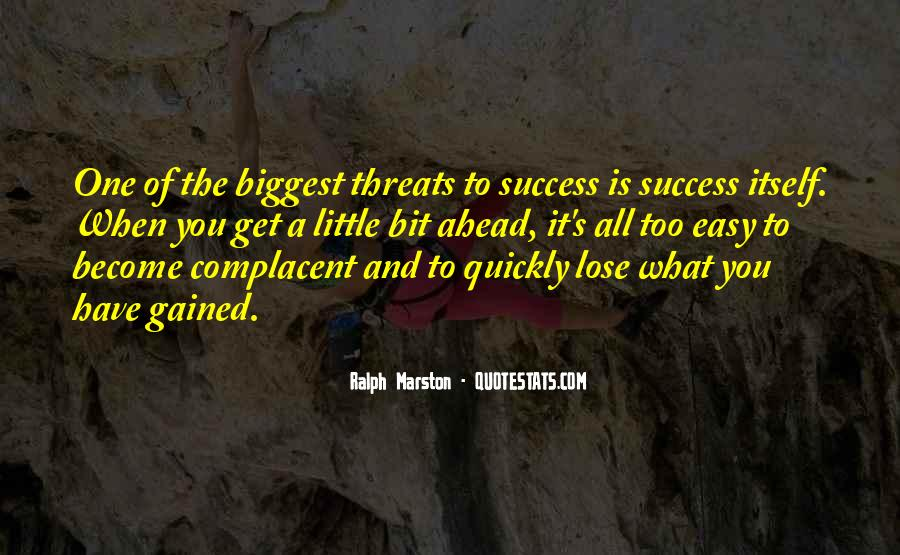 Complacent Quotes #758469