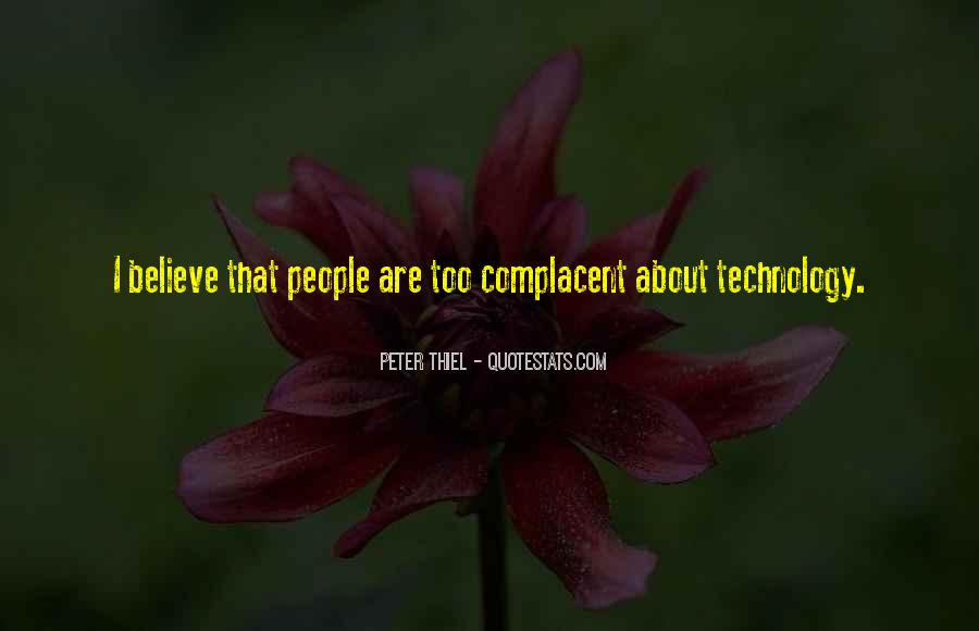 Complacent Quotes #984389