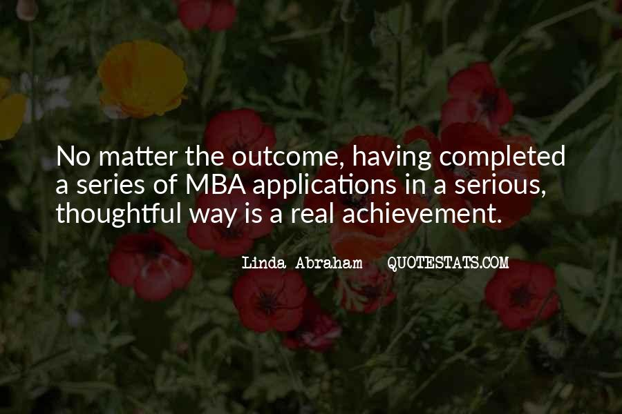 Completed Mba Quotes #1580893