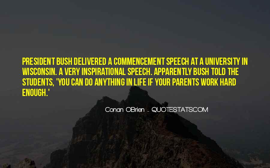 Conan Commencement Speech Quotes #1394846