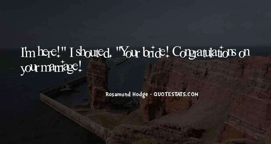Congratulations For Marriage Quotes #1776800