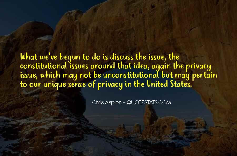 Constitutional Issues Quotes #329265