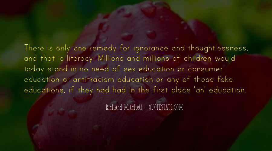 Consumer Education Quotes #1817324
