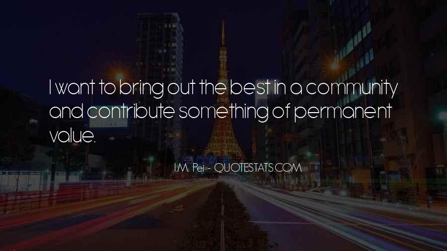 Contribute To Community Quotes #1031187