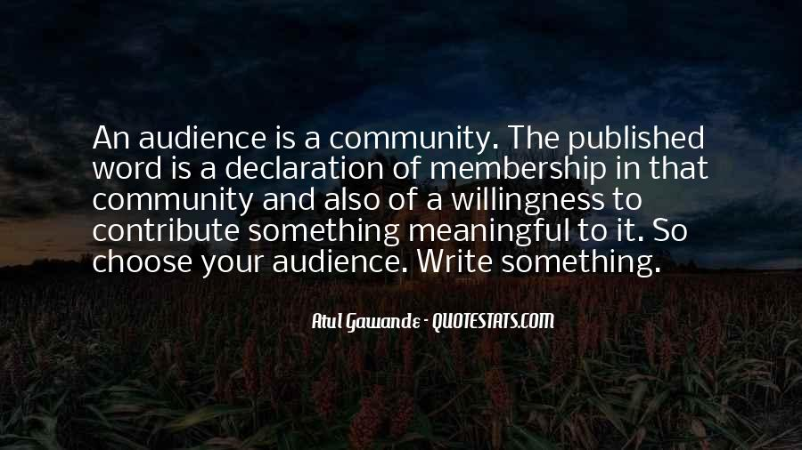 Contribute To Community Quotes #1366367