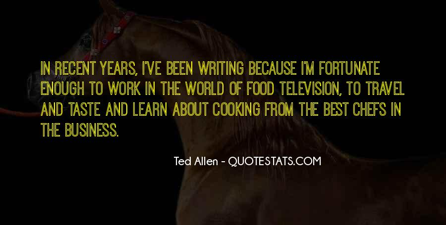 Cooking And Business Quotes #106767