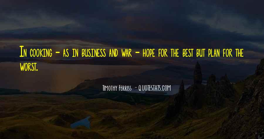 Cooking And Business Quotes #415607
