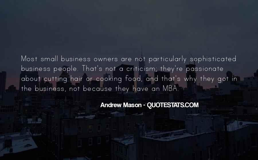 Cooking And Business Quotes #980554