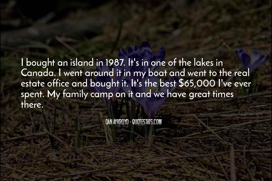 Quotes About Lakes And Family #1394487