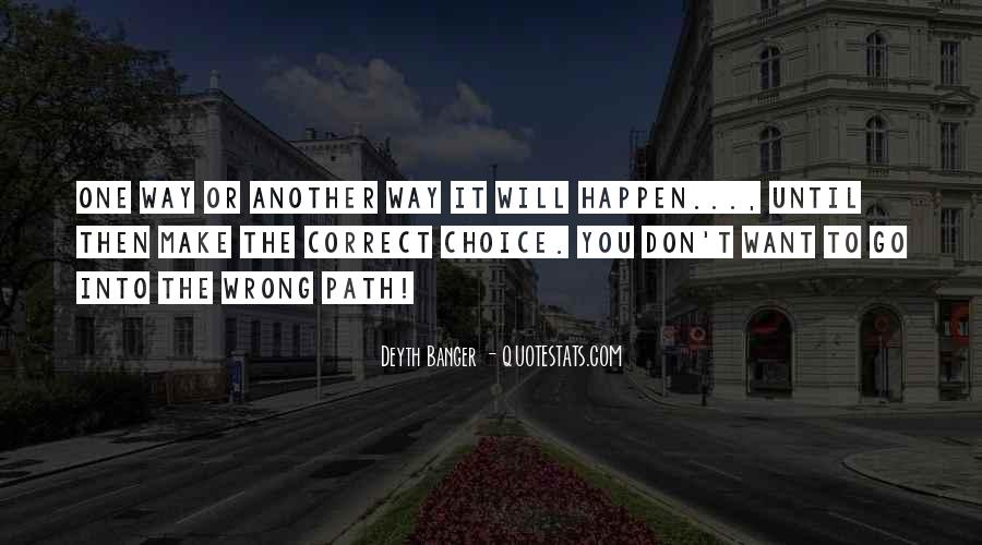 Correct Path Quotes #601122