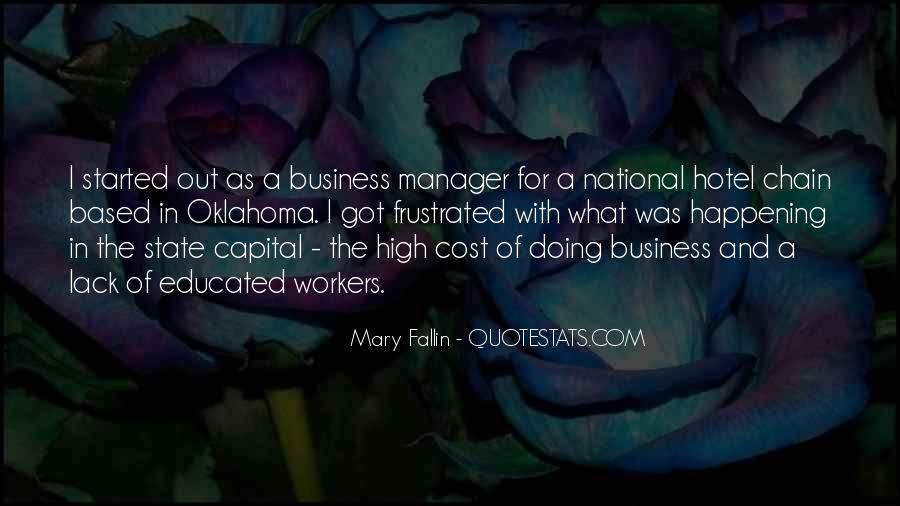 Cost Of Doing Business Quotes #1202760