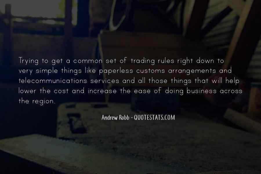 Cost Of Doing Business Quotes #1452452