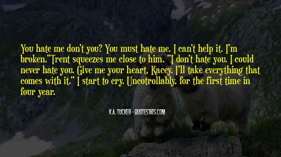 Could Never Hate You Quotes #1556056