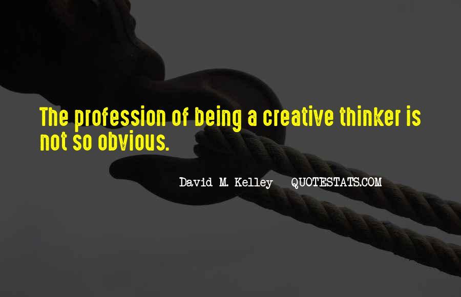 Creative Thinker Quotes #1200813