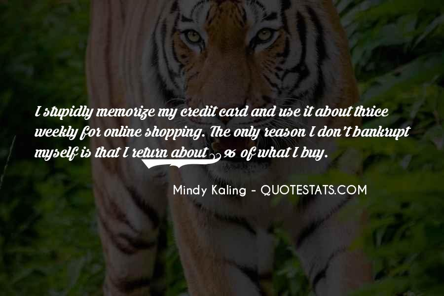 Credit Card Shopping Quotes #754472