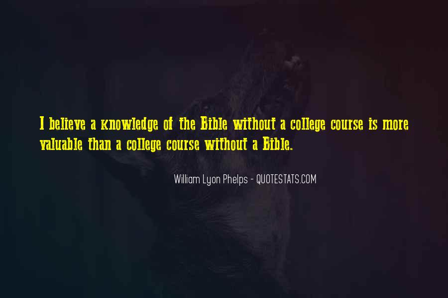 Quotes About Knowledge Bible #1418831