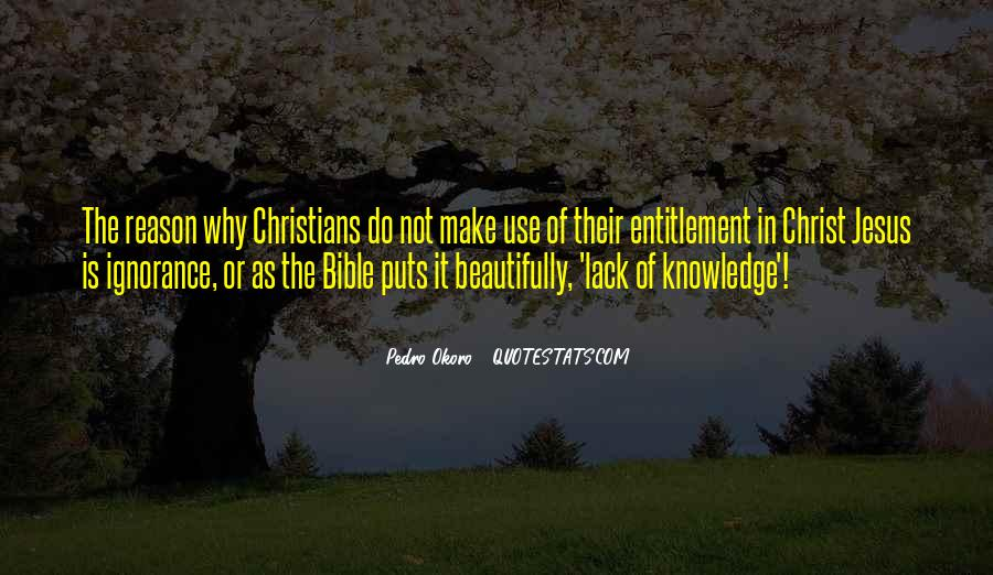 Quotes About Knowledge Bible #1750553