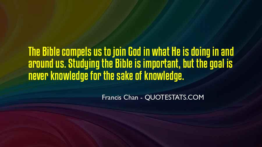 Quotes About Knowledge Bible #283509