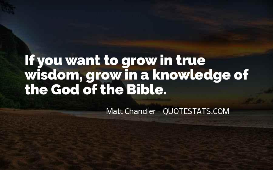 Quotes About Knowledge Bible #478546