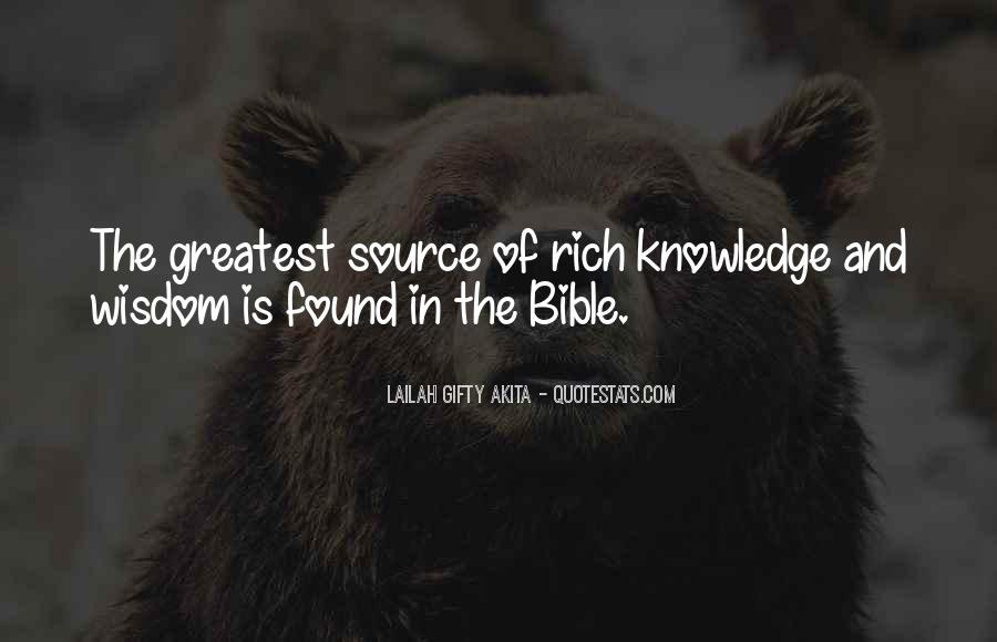 Quotes About Knowledge Bible #6202