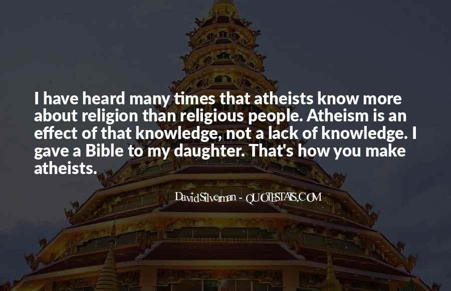 Quotes About Knowledge Bible #819332