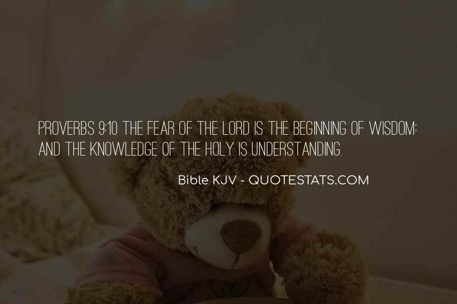 Quotes About Knowledge Bible #915594